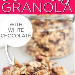 Cranberry Granola with White Chocolate