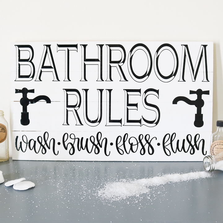 rules for bathroom sign