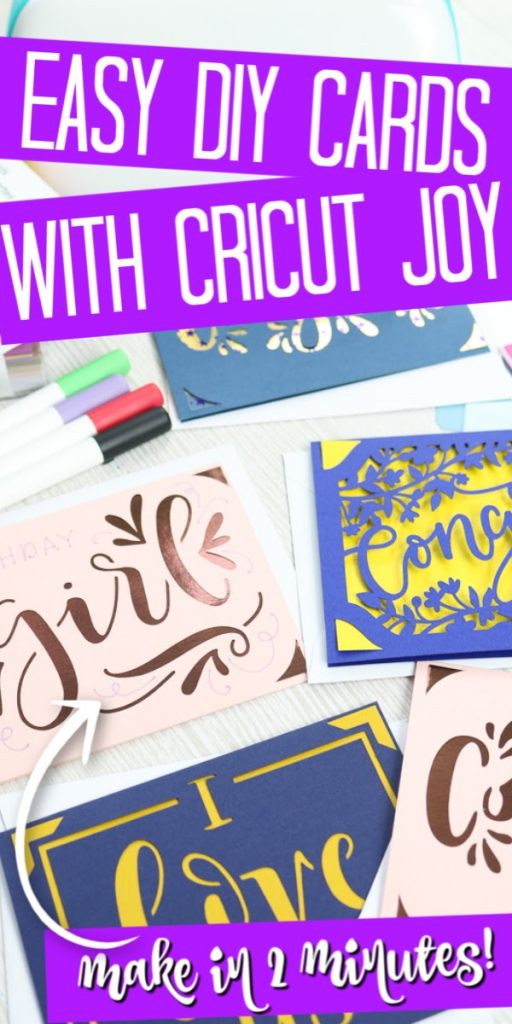 Using the Cricut Joy card mat to make handmade cards is so easy! This new Cricut mat will have you making cards for every occasion! #cricut #cricutjoy #cricutcreated #cricutcards #cards #cardmaking #handmadecards #greetingcards