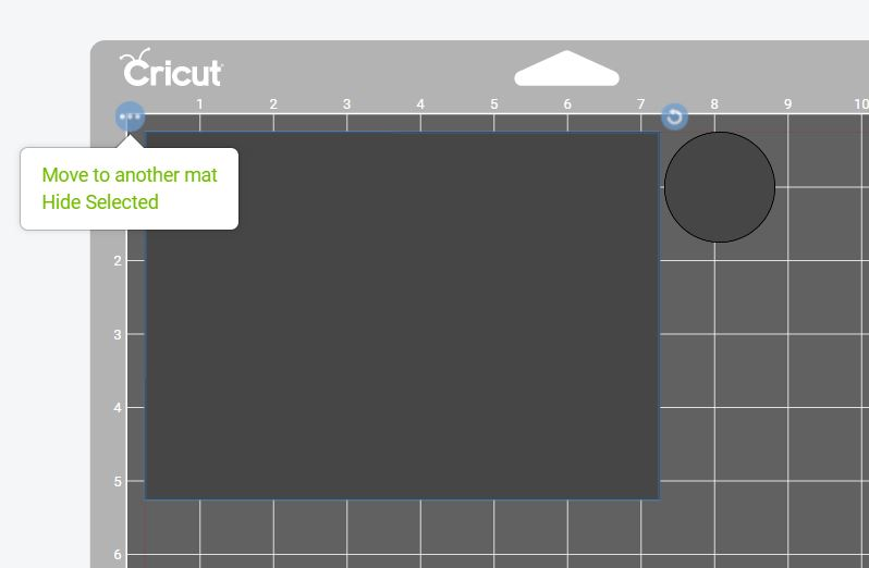 moving to another mat in Cricut Design Space