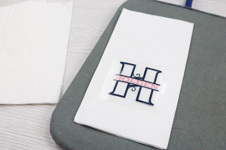heat transfer vinyl monogram