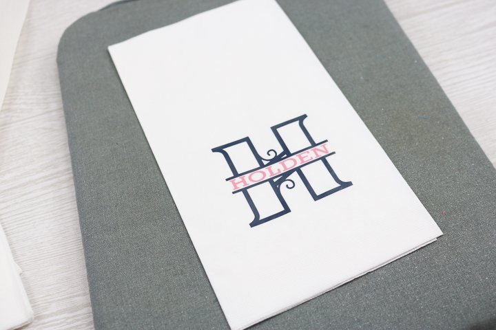 custom napkins with cricut