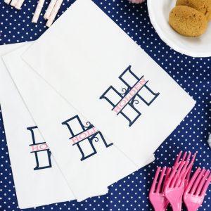 comment faire des serviettes monogramme