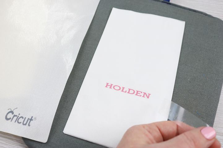 heat transfer vinyl on napkins