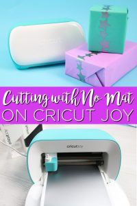 Learn all about cutting with no mat using Cricut Joy including a fun project. Once you cut matless with a Cricut, you will never want to go back! #cricut #cricutjoy #cricutcreated #cricutprojects #party #partyideas #gift #giftideas