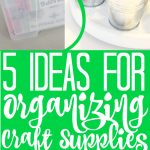 We have ideas to help you organize craft supplies around your home! These easy and inexpensive ideas will leave you more organized and ready to tackle those craft projects! #crafts #diy #organize #organization #lazysusan #file #labels #crafting #crafter #craftroom