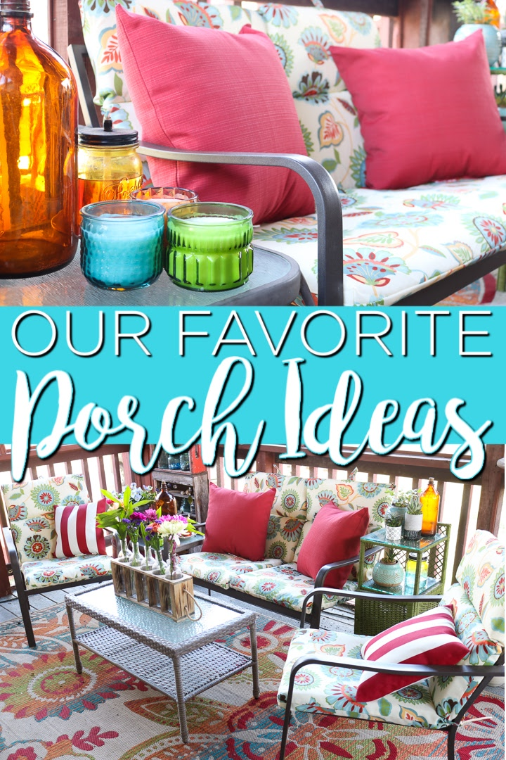 The best screened-in porch ideas for your home! Decorate your outdoor area in style with our step by step guide to cushions, decor, and more! #outdoors #porch #decor #homedecor #otpfinds #otp #oldtimepottery #colorful