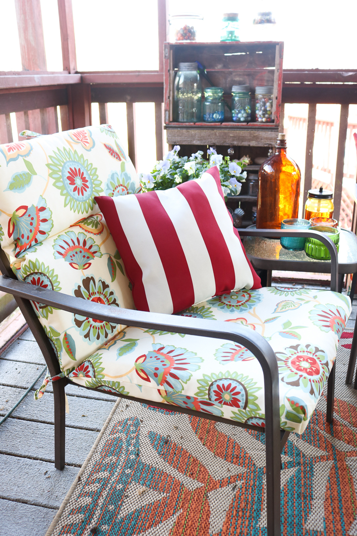 outdoor cushions from Old Time Pottery