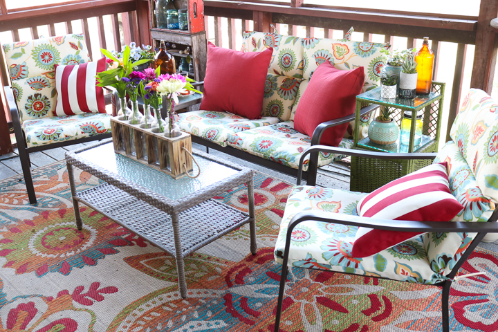 outdoor porch makeover