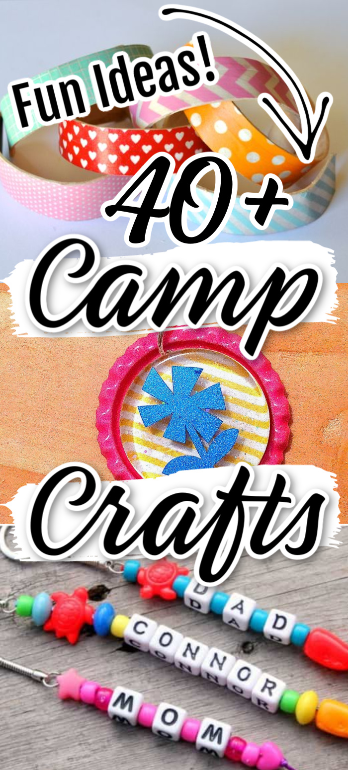 Check out this list of 45+ camp craft ideas that all take 15 minutes or less to complete!