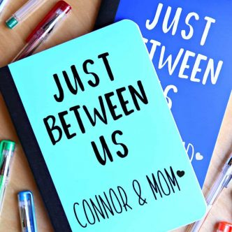 Just between us parent and child journal