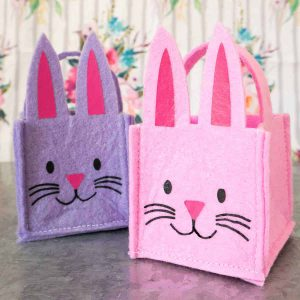 felt bunny baskets
