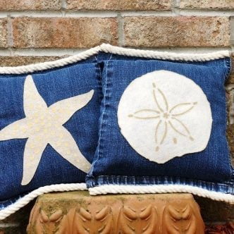 starfish and sand dollar pillows
