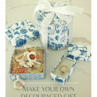 decoupage gift boxes
