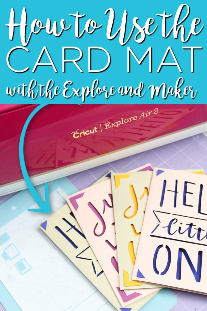 Learn how to use the Cricut card mat on the Cricut Explore and Cricut Maker with a quick and easy hack! You will be making easy cards in minutes! #cricut #cricutcreated #cricutlove #cricutjoy #cricutexplore #cricutmaker #cricutcards #cards #greetingcards