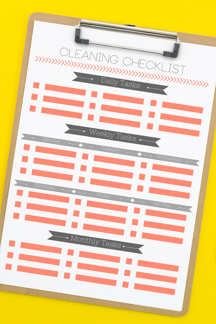 how to use a checklist for cleaning