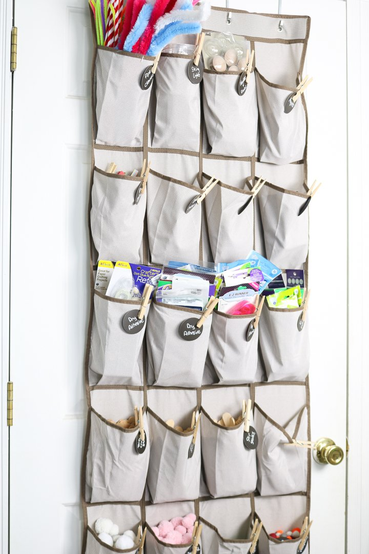 shoe organizer for craft supplies