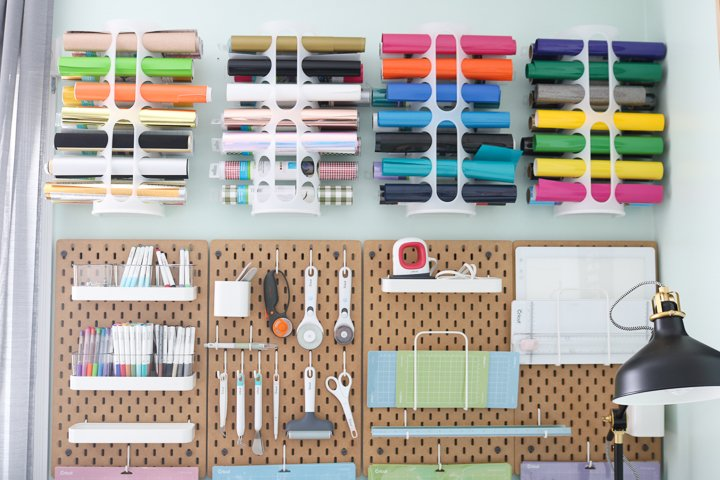 organizing cricut craft supplies