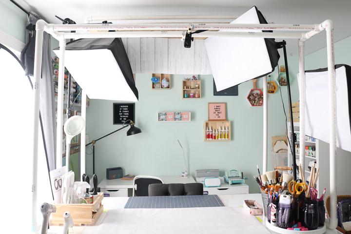 pvc overhead camera mount