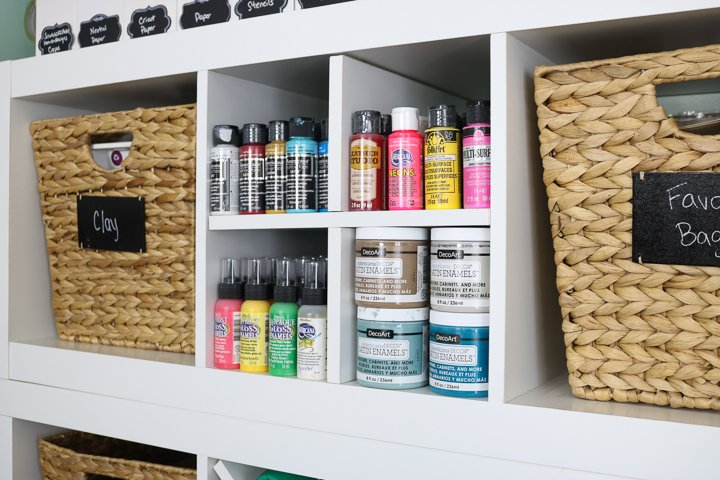 craft paint shelf