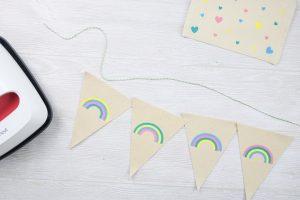 rainbow bunting banner