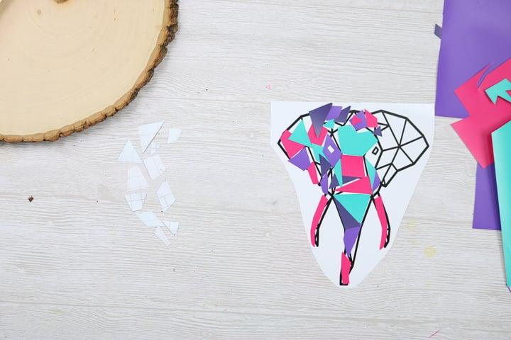 making art with vinyl scraps