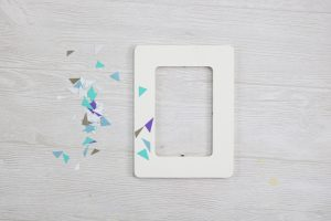 terrazzo effect on a photo frame