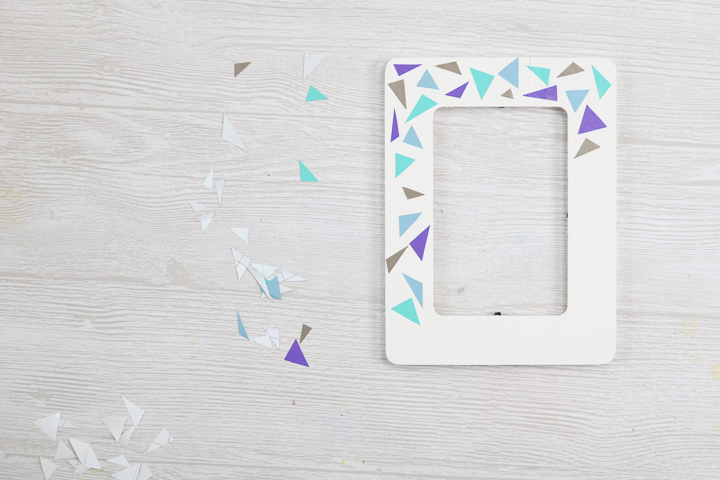 adhesive vinyl on a picture frame