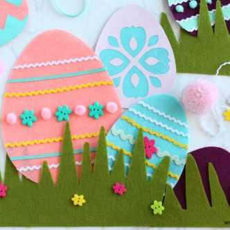felt easter egg craft