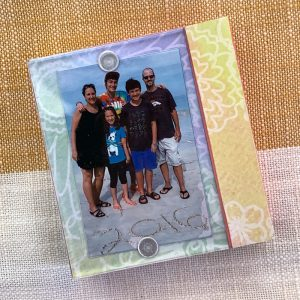 decoupage mini photo frame