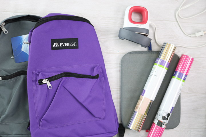 supplies to make diy backpacks
