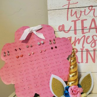 chipboard earring organizer