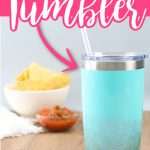 Make a DIY glitter tumbler with these instructions including a video. It is easy to get that ombre glitter look on the bottom of any insulated tumbler! #tumbler #glitter #glittertumbler #craftvideo #video #crafts #gift #giftidea #epoxy #resin