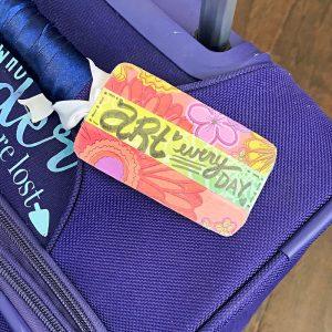 DIY luggage tags