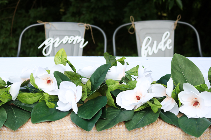 DIY wedding garland idea