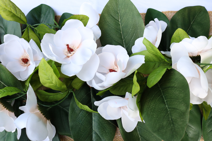 magnolia wedding garland