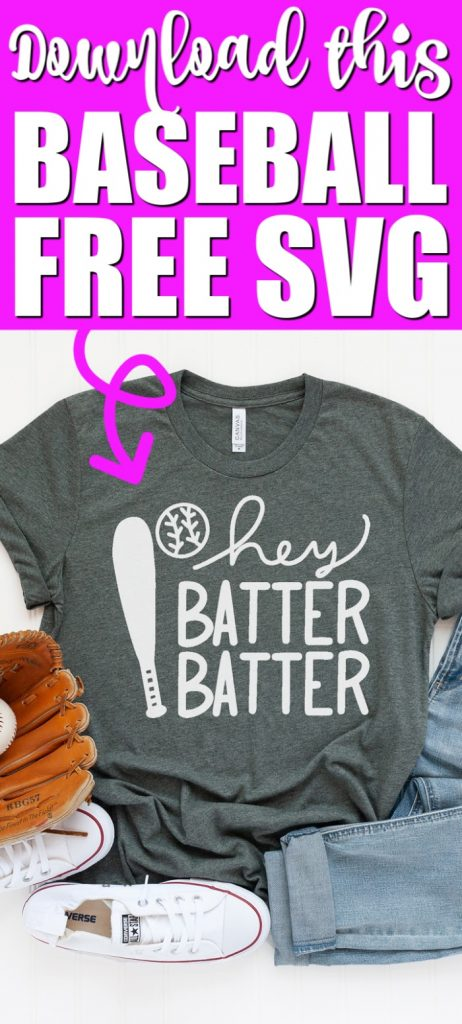This free baseball SVG is perfect for shirts and so much more! Pair it with 14 other free baseball SVGs to outfit the entire family! #svg #baseball #freesvg #cutfile #freecutfile #cricut #cricutcreated