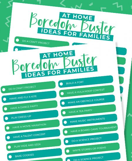 family boredom busters