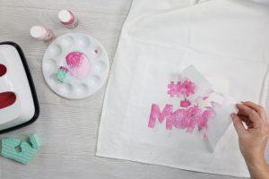 removing a freezer paper stencil