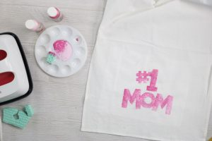 stenciling with kids