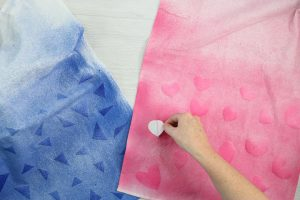 how to remove freezer paper stencils