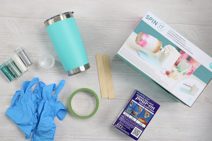 supplies to make an ombre tumbler