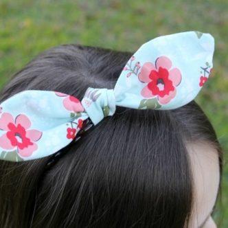 Bunny knot headband