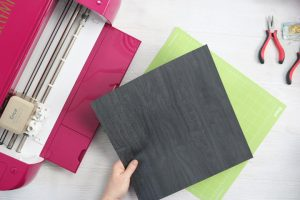 adding faux leather to a cricut mat