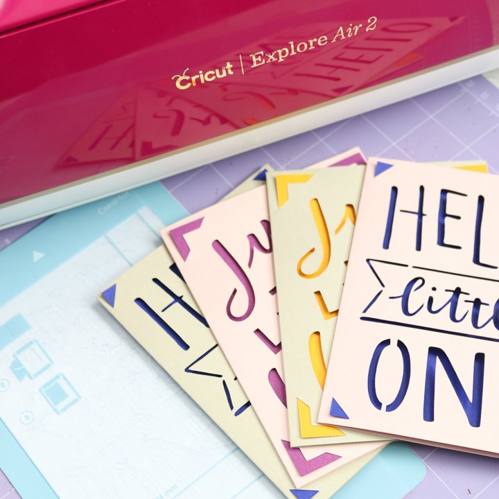 hack for using the cricut joy card mat on an explore or maker