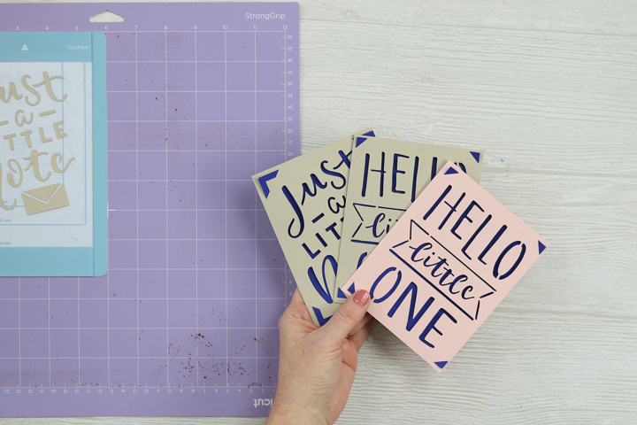 cricut cards made with card mat