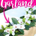 Make this DIY magnolia garland for your wedding or to add a little something you your home decor! This is an easy craft project that anyone can make! #wedding #party #diy #crafts