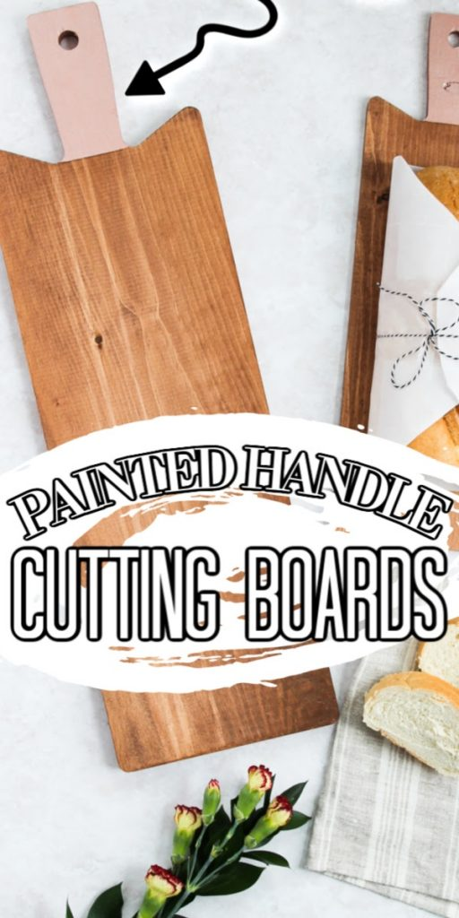 painted handle cutting boards