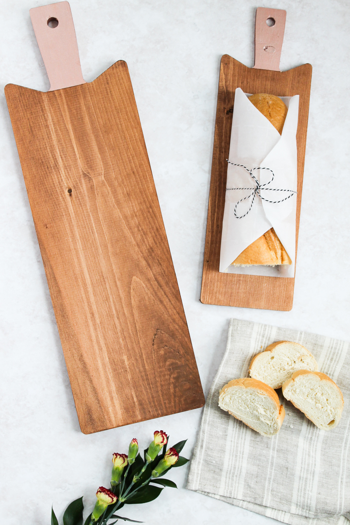how to make painted handle cutting boards