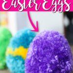 How to Make Pom Pom Yarn Easter Eggs